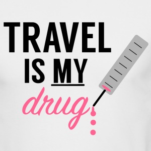 Travel Is My Drug! - Men's Long Sleeve T-Shirt by Next Level