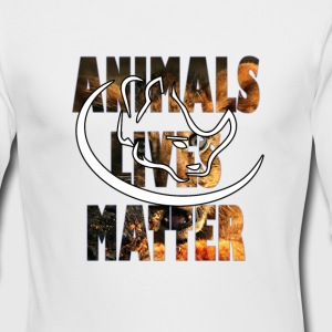 animal lives matter - Men's Long Sleeve T-Shirt by Next Level