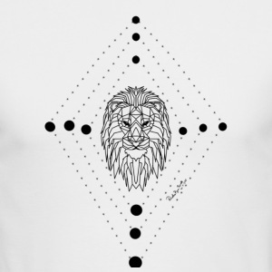 Geometric Lion - Men's Long Sleeve T-Shirt by Next Level