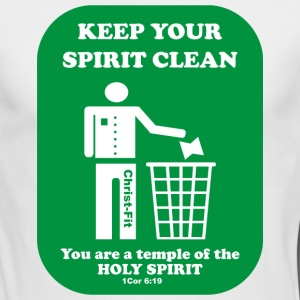 keep your spirit clean solid green - Men's Long Sleeve T-Shirt by Next Level