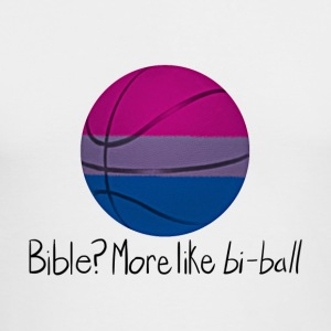 Bible? More Like BI-BALL! (Sexuality Pun) - Men's Long Sleeve T-Shirt by Next Level