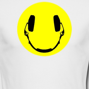 Headphones smiley - Men's Long Sleeve T-Shirt by Next Level