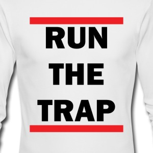 run_the_trap_for_white_tshirt - Men's Long Sleeve T-Shirt by Next Level