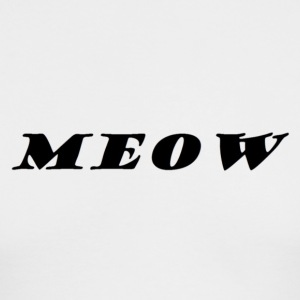 meow text - Men's Long Sleeve T-Shirt by Next Level