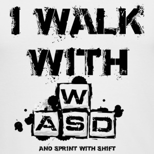 I Walk with WASD - Men's Long Sleeve T-Shirt by Next Level