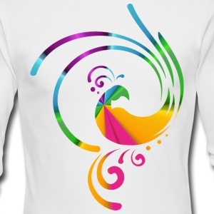 Colorful rolling bird - Men's Long Sleeve T-Shirt by Next Level