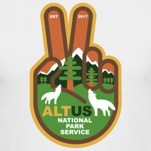 ALT US National Park Service - Peace - Men's Long Sleeve T-Shirt by Next Level