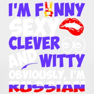 Im Funny Sexy Clever And Witty Im Russian - Men's Long Sleeve T-Shirt by Next Level