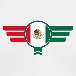 Mexico Badge Emblem Flag - Men's Long Sleeve T-Shirt by Next Level