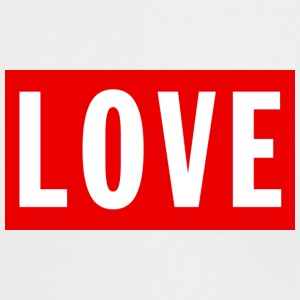 Love (Big/Red Border) - Men's Long Sleeve T-Shirt by Next Level