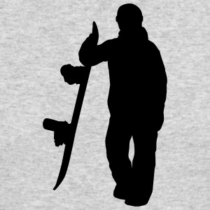 Snowboarder - Snowboard Rider - Boarder Silhouette - Men's Long Sleeve T-Shirt by Next Level