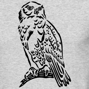Beautiful Snowy Owl in Tattoo Style. - Men's Long Sleeve T-Shirt by Next Level