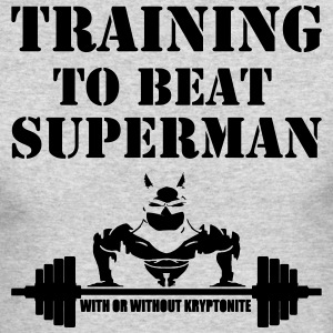 Training to beat superman - Men's Long Sleeve T-Shirt by Next Level