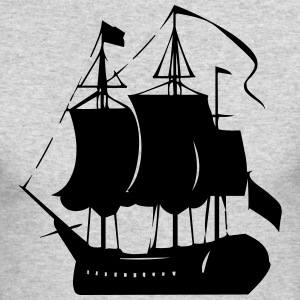 Pirate old ship - Men's Long Sleeve T-Shirt by Next Level