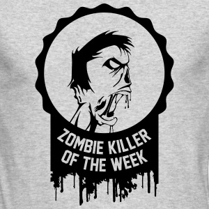 Zombie killer of the week award - Men's Long Sleeve T-Shirt by Next Level
