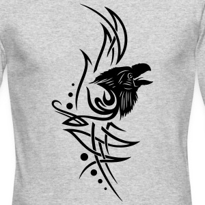 Tribal, tattoo with raven head. - Men's Long Sleeve T-Shirt by Next Level