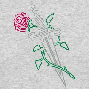 Rose with Knife - Men's Long Sleeve T-Shirt by Next Level
