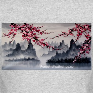 cherry-blossom-painting - Men's Long Sleeve T-Shirt by Next Level