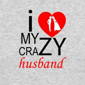 I Love My Crazy Husband - Couple - Men's Long Sleeve T-Shirt by Next Level