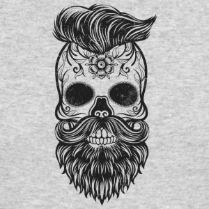 hipster skull - Men's Long Sleeve T-Shirt by Next Level