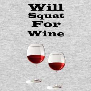 Will squat for wine - Men's Long Sleeve T-Shirt by Next Level