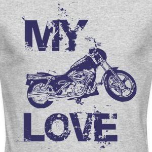 My love is motorcycle - Men's Long Sleeve T-Shirt by Next Level