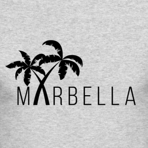 Marbella Palm Trees - Men's Long Sleeve T-Shirt by Next Level