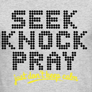 Seek, Knock and Pray - Men's Long Sleeve T-Shirt by Next Level
