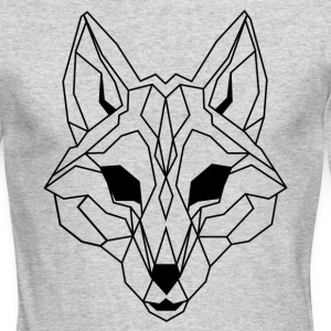 Lineart of a wolf / wolf transparent - Men's Long Sleeve T-Shirt by Next Level