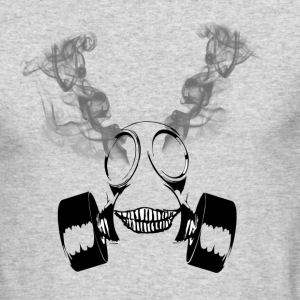 Insane Smoking Gas Mask - Men's Long Sleeve T-Shirt by Next Level