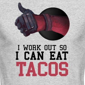 I Work Out So I Can Eat Tacos - Men's Long Sleeve T-Shirt by Next Level