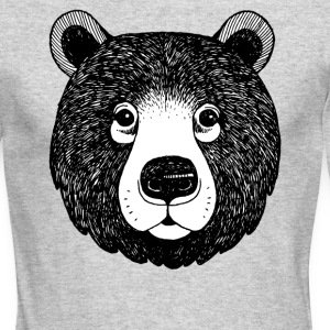 The head of bear - Men's Long Sleeve T-Shirt by Next Level