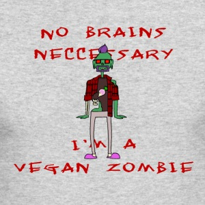 Vegan zombie - Men's Long Sleeve T-Shirt by Next Level