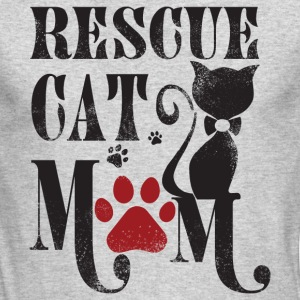 Rescue Cat Mom T Shirt - Men's Long Sleeve T-Shirt by Next Level
