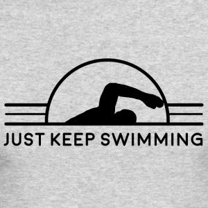 Just Keep Swimming - Men's Long Sleeve T-Shirt by Next Level