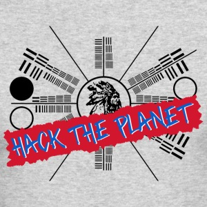 Hack the Planet T Shirt - Men's Long Sleeve T-Shirt by Next Level