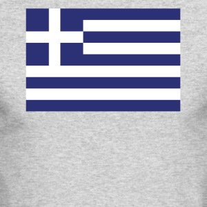Flag of Greece Cool Greek Flag - Men's Long Sleeve T-Shirt by Next Level
