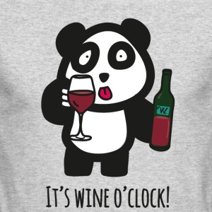 Drinking Panda - It's wine o'clock! - Men's Long Sleeve T-Shirt by Next Level