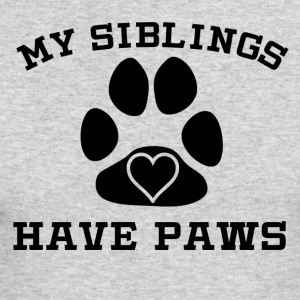 My Siblings Have Paws - Men's Long Sleeve T-Shirt by Next Level