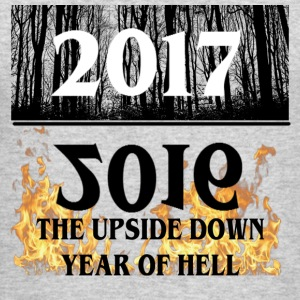 2017- 2016 Upside Down Year Of Hell - Men's Long Sleeve T-Shirt by Next Level