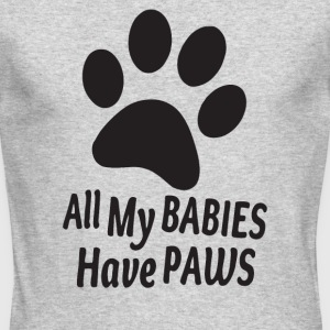 All My Babies have paws - Men's Long Sleeve T-Shirt by Next Level