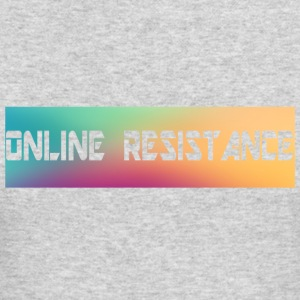 Online Resistance T-Shirts Long Logo - Men's Long Sleeve T-Shirt by Next Level