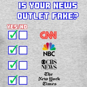 All About Fake News - Men's Long Sleeve T-Shirt by Next Level
