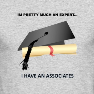 expert with degree - Men's Long Sleeve T-Shirt by Next Level