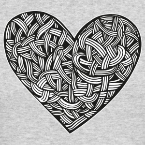 heart tattoo graphic illustration interlacing - Men's Long Sleeve T-Shirt by Next Level