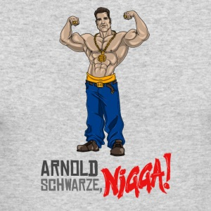 Arnold Schwarzenegger Schwarze nigga! - Men's Long Sleeve T-Shirt by Next Level
