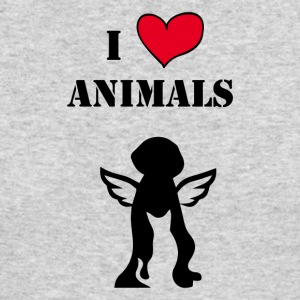 i love animals - Men's Long Sleeve T-Shirt by Next Level