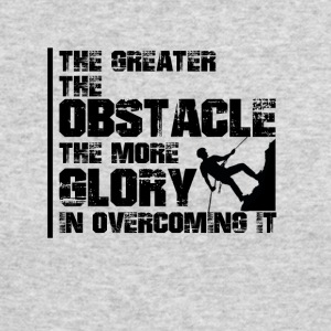 The greater the obstacle T-shirt design - Men's Long Sleeve T-Shirt by Next Level