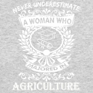 Never Underestimate Woman Who Majored Agriculture - Men's Long Sleeve T-Shirt by Next Level