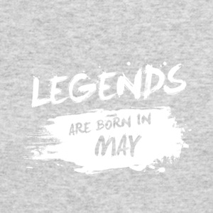 Legends are born in May - Men's Long Sleeve T-Shirt by Next Level